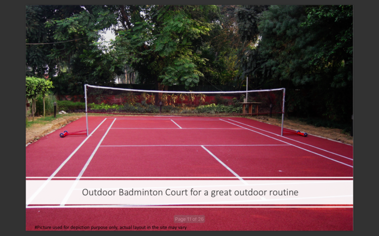 Outdoor Badminton Court